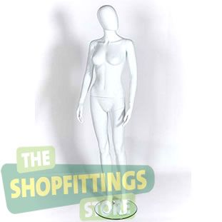 Female White Mannequin With Egg Style Head 2