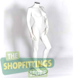 Female White Headless Mannequin 1
