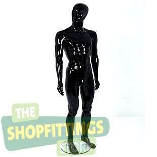 Male Black Mannequin With Abstract Style Face