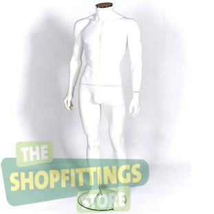 Male White Headless Mannequin