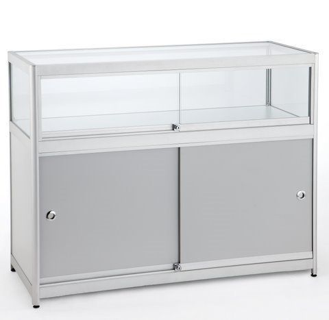 1/4 Glass Counter 1200Wx900Hx600D
