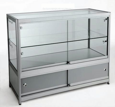 3/4 Glass Counter 1200Wx900Hx600D