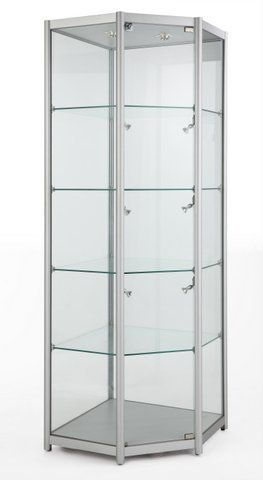 Glass Corner Tower Showcase 650Wx1980Hx650D