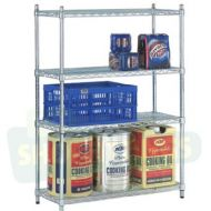 Chrome Shelving Unit - 1829mm  Tall