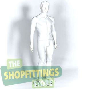 Male White Mannequin Moulded Style Head