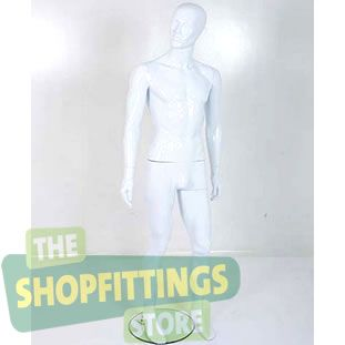 Male White Mannequin With Abstract Style Face 3
