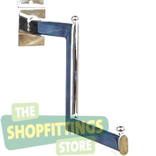 Stepped Clothing Arm For Slatwall